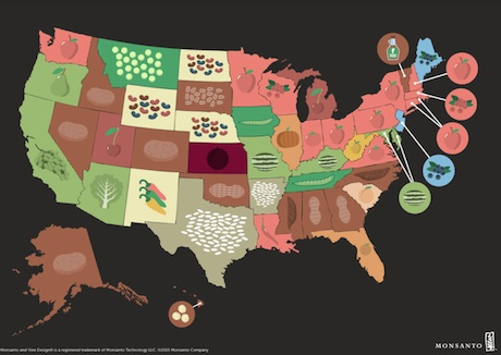 Infographic The United Crops Of America - Agriculture by state us map