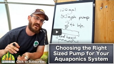 Sizing a pump for hydroponics or aquaponics