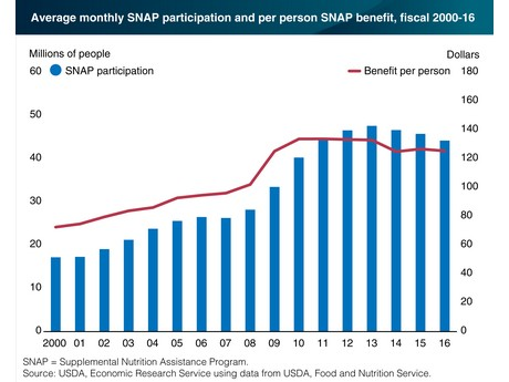 US: SNAP participation fell in 2016